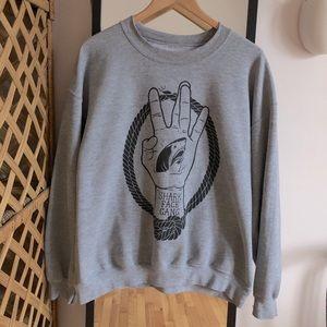 Macklemore Shark Face Gang crewneck sweater